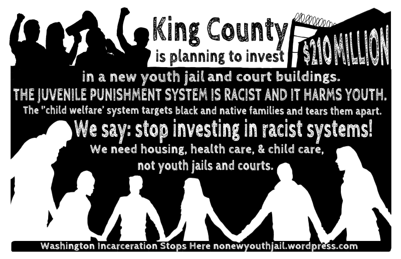 no youth jail postcard